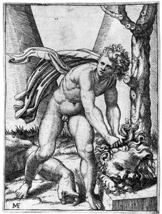 """met-drawings-prints: """"David with the head of Goliath by Marcantonio Raimondi via Drawings and Prints Medium: Etching with engraving Harris Brisbane Dick Fund, 1930 Metropolitan Museum of Art, New York,. David Et Goliath, Ornament And Crime, Cain And Abel, Web Gallery Of Art, European Paintings, Illustrations, Classic Image, Victoria And Albert Museum, Pencil Illustration"""