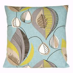 Decorative Pillow Sham - 16x16 Inch Pillow Cover - Chandelier Aqua on Etsy, £7.55