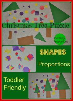 Christmas activities : Christmas Tree Puzzle
