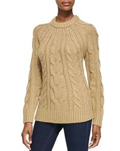 Cable-Knit Sweater by MICHAEL Michael Kors at Neiman Marcus. was $160.00 now $112.00