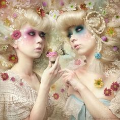 Girl of the Flower Garden 3 - introducing a very talented artist from Japan. Kiyo Murakami combines photography and photo-manipulation into amazing pieces of art