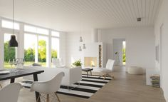 Honka Lounatuuli, a fresh and relaxed interior decoration. Honka Lounatuuli.