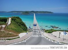 I thinking Ohhhh  Yea...   A bridge in Japan connecting 2 islands