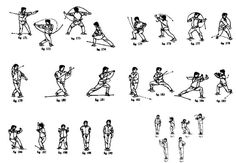 Five Stance Drill: Wushu/Northern Kung Fu; Hold Each