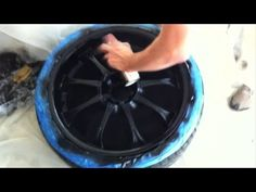 How to paint your car wheels black - YouTube