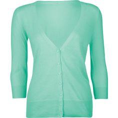 FULL TILT Essential Womens Elbow Sleeve Cardigan ($20) ❤ liked on Polyvore