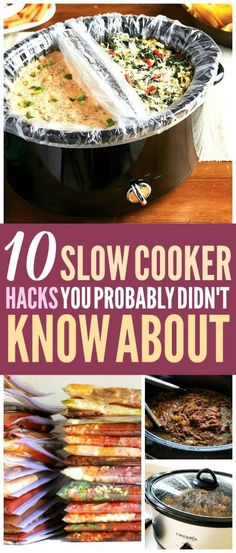 These slow cooker hacks are THE BEST! I'm so glad I found these AMAZING slow cooker recipes ideas! Now I have some great ways to use a crock pot and time! Definitely pinning! #slowcooker #crockpot #SlowCookerRecipes