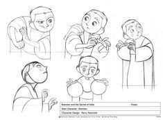 Living Lines Library: The Secret of Kells (2009) - Main Character: Brendan