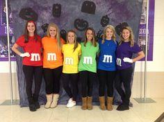 M&M's for this years Halloween costume. #diy #teenhalloween #costume