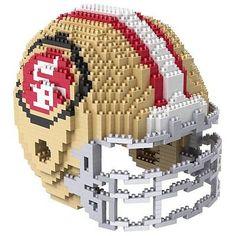 New San Francisco 49ers BRXLZ Team Helmet 3D Puzzle Construction Toy 1378 Pieces