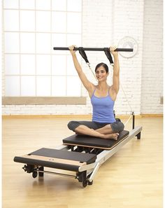 Get toned and fit without leaving your home! The new STOTT PILATES SPX Reformer Package facilitates over 250 Pilates exercises, and the two DVDs provide over 90 minutes of detailed and clear instruction to guide you through a studio-quality workout at home. Enjoy the benefits of increased core strength, flexibility, mobility and endurance without stressing the joints. Stott Pilates Reformer, Pilates Reformer Exercises, Pilates Workout, Cardio, Pilates Routines, Pilates Plus, Pilates Body, Pilates Machine, Joseph Pilates
