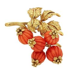 Jewelry OFF! Estate Jewelry:Brooches - Pins Coral Gold Brooch Tiffany Co Victorian Jewelry, Antique Jewelry, Vintage Jewelry, Garnet Jewelry, Coral Jewelry, Turquoise Rings, Holiday Jewelry, Jewelry Gifts, Jewellery