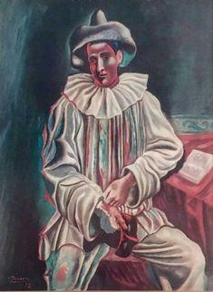 Pablo Picasso Pierrot Clown 1918 Original Lithograph MoMA Edition https://www.etsy.com/listing/485214889/pablo-picasso-pierrot-clown-1918?utm_campaign=crowdfire&utm_content=crowdfire&utm_medium=social&utm_source=pinterest
