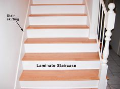 Laminate Flooring With Shoe Molding On Stairs   Google Search