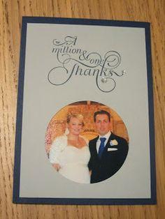 Stampin Up Wedding Thank You Card, A Million and One Thanks craftycarolinecreates.blogspot.co.uk