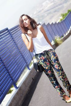 pantalon de flores, harem ,ss14