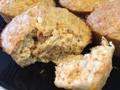 Carrot-apple protein muffins