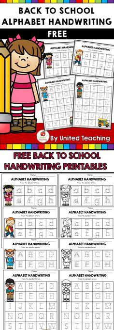 FREE Back to School Handwriting Alphabet Printables!