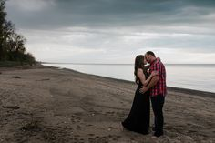 Grand Bend Beach Engagement: Kelsey and Mike