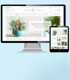 Garden Compass' gorgeous website looks great across all platforms! #responsivewebdesign #webdesign