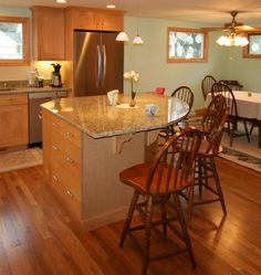 Kitchen Island Round love the two tier with stools under the right side high level. cab