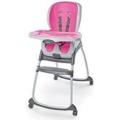 Pink HY Baby Highchair with Safety Belt /& Baby Swing High Quality New Modern Kids Plastic Chair Multi-Function