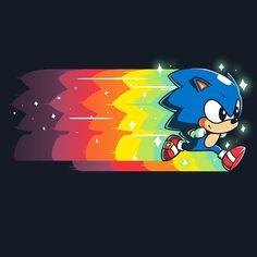 Speed of Light T-Shirt Sonic the Hedgehog TeeTurtle
