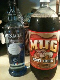 Root beer and whipped cream vodka= heavenly yumminess!!!