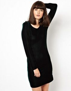So slouchy and cozy, you'll forget it's a cocktail dress.  VELVET BODY-CONSCIOUS DRESS, $45.37, POP BOUTIQUE, US.ASOS.COM