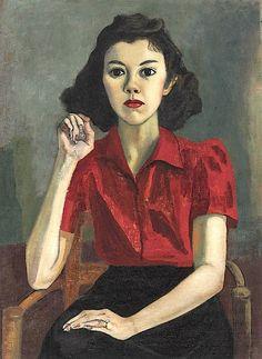 ALICE NEEL (1900-1984) / Portrait (Roberta Johnson Roensch)