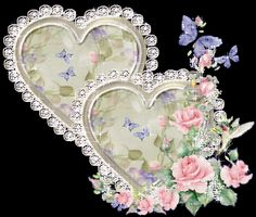 Glitter Graphics Hearts | Glitter Graphics » Love » Diamond Heart Pink Roses