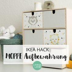Mach mehr aus deiner IKEA MOPPE Kommode: Passende Stickersets für die IKEA MOPPE findest du in unserem Shop, viele weitere IKEA Hacking Ideen auch auf unserem Blog!