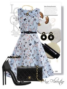 """""""Ana Florentino"""" by ana-odete-bastos-florentino on Polyvore featuring WithChic, Chanel, Yves Saint Laurent and Charlotte Chesnais"""