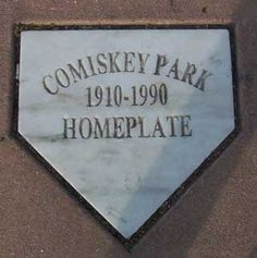 The old Comiskey Park home plate. Where Carlton Fisk used to squat...mmmmmm......