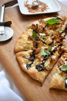 Balsamic Glazed Chicken and Caramelized Onion Pizza From Scratch