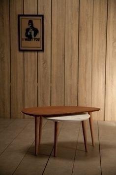 ces tables basses gigognes design palissandre sont inspirées des lignes des années 50 et du style scandinave. Des tables basses style fifties en palissandre