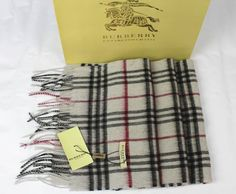 Burberry Nova Check Cashmere classic Scarf NIB 35 X 170 cm Fashion Scarves, Scarf Styles, Burberry, Classic, Derby, Classical Music