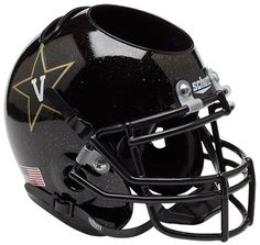 Vanderbilt Commodores Mini Helmet Desk Caddy - Black