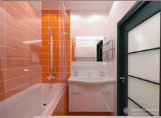 Оранжевая ванная комната – праздник каждый день