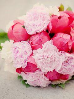 Hot Pink and Light Pink Wedding Bouquet