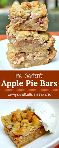 Ina's Apple Pie Bars – Easier Than Apple Pie! Desserts Ina's Apple Pie Bars - Easier Than Apple Pie Apple Dessert Recipes, Köstliche Desserts, Cookie Recipes, Delicious Desserts, Yummy Food, Bar Recipes, Apple Baking Recipes, Desserts With Apples, Apple Recipes Easy