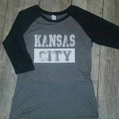 Check out this item in my Etsy shop https://www.etsy.com/listing/267732323/kansas-city-raglan