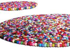 45ft YUMMI Round Felt Rug 140cm by Crafttasticparties on Etsy, $399.99