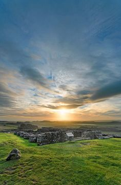 Housesteads Roman Fort, Hadrian's Wall, Northumberland print on canvas - photography by Roger Clegg The Places Youll Go, Places To Go, Amazing Places, Beautiful Places, Hadrian's Wall, Ancient Artefacts, Northumberland England, Paisley Scotland, Roman Britain