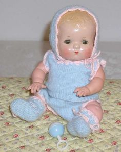 Effanbee BABY BUBBLES -- Early 1930s Patsy BabyKIN. This was my Mom's favorite doll, and she passed her down to me....