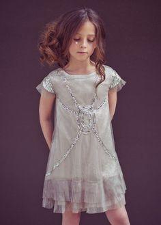 New Joyfolie Girls Olivia Crinkled satin Tulle Sequin Party Dress Size 2T