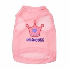 Ollypet Pink Princess Cute Female Dog Shirt Pet Vest XS