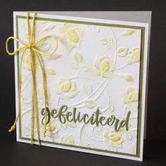 Geëmboste kaart met rozen. Embossing Folder, Frame, Cards, Blog, Home Decor, Room Decor, Frames, A Frame, Blogging
