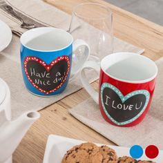 Hearts Slate Mug
