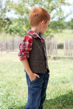 Parcel #4: Tweed Schoolboy Vest | Pattern by SewMuch Ado |Radiant Home Studio